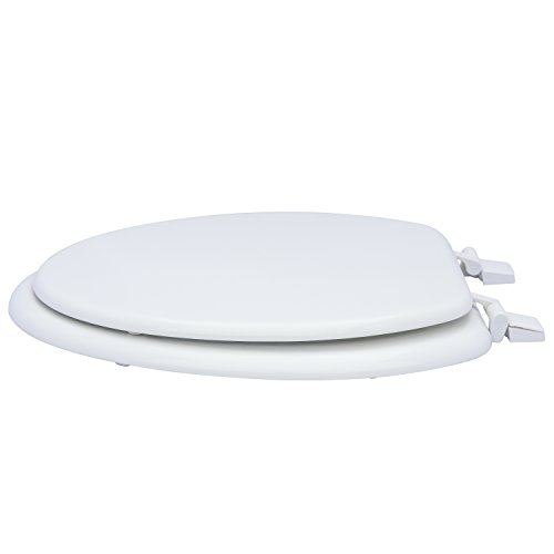 Karlson KS1242-1901-WH Standard Molded Wood Elongated Toilet Seat White by Karlson (Image #3)