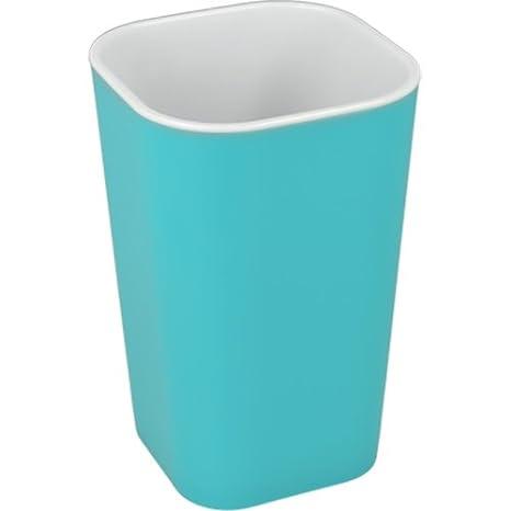 """Metaltex """"Suave Vaso para cepillos de Dientes, Color Turquesa"""