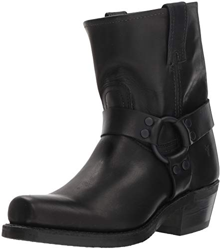 FRYE Women's Harness 8R Mid Calf Boot, Black, 11 M US
