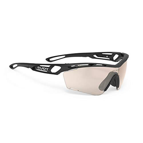 Rudy Project Photochromic - Rudy Project Tralyx Slim Sports Running and Cycling Sunglasses - Matte Black Frame - ImpactX-2 Photochromic Clear to Laser Red Lens