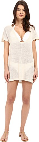 Billabong Women's Summer Infinity Cover up Tunic, White Cap, Large