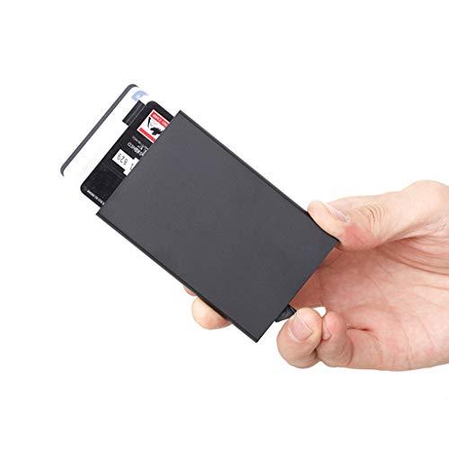 Slim Pop Mini Crédit Carte monnaie Porte Yanhonin Aluminium Entreprise Automatique Titulaire De up Rfid Noir En Blocage YS7OnOxqB