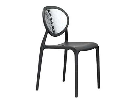 Scab gio star sedia in plastica polipropilene cromata colore