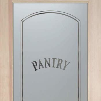 Pantry Doors 2 0 X 6 8 1 Lite French Frosted Glass Door Frosted Etched Classic Arched Amazon Ca Home Kitchen