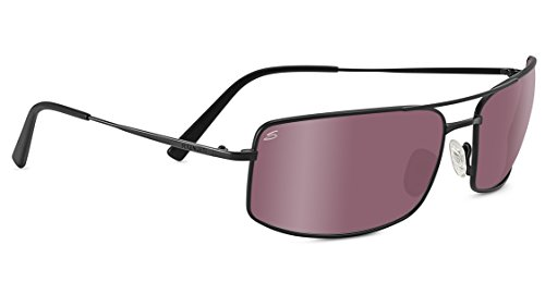 Serengeti 8440 Treviso Polarized Sedona Bi Mirror Sunglasses, Satin Black by Serengeti