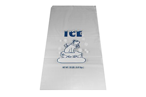 Inno-Pak 361802715 Drawstring Ice Bag, Polar Bear, 20 lb, 26'' x 14'' (Pack of 250) by Inno-Pak