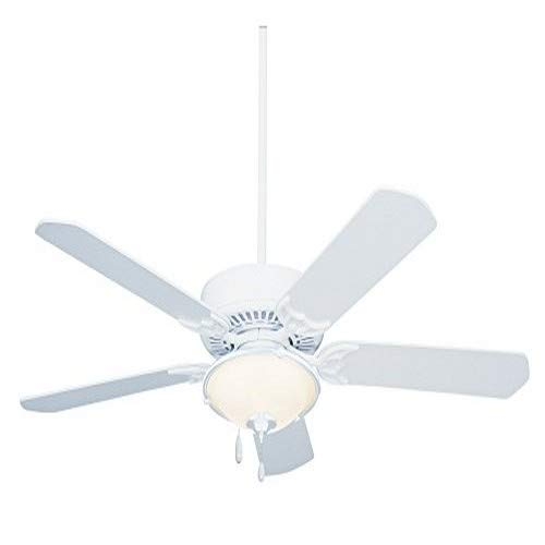 Emerson Ceiling Fans CF652WW Summer Night 52-Inch Indoor Outdoor Ceiling Fan, Damp Rated, Light Kit Adaptable, Appliance White Finish