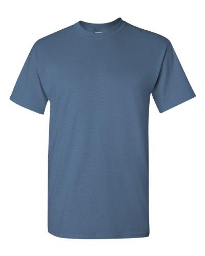 - Gildan Heavy Cotton 5.3 Oz. T-Shirt (G500)- Indigo Blue,Medium