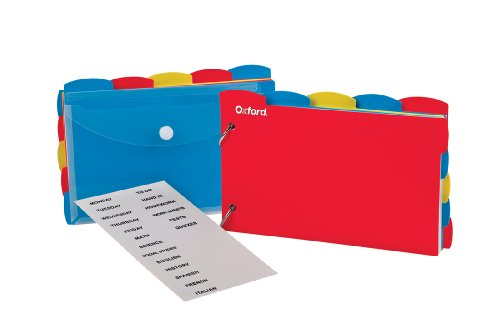 "Oxford Just Flip-It Note Card Organizer, 4"" x 6"" Size, Ruled, White, 50 Cards (63535EE)"