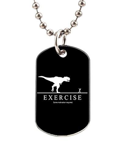 Funny Motivational Unique Image Oval Dog Tag Aluminum ID Tag Key Chain Cat Horse Pet Tag