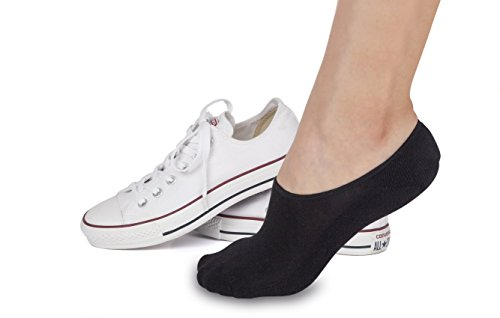 Soft Athletic No Show Socks for Women. Casual Sock Liner 3 Pack Cushioned Sole, Heel Grip STOMPERJOE ()