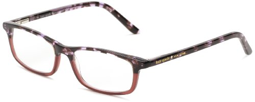 Kate Spade Women's Jodie Jodie Rectangular Readers, Purple Tortoise 2.0, 50 - Tortoise Purple