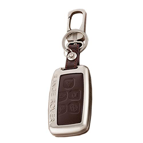 Kaizen Keyless Entry Remote Cover Zinc Alloy Smart Key Case Fob Holder Shell For Land Rover Defender,Discovery,Discovery Sport,LR4,Range Rover,Range Rover Evoque/Sport,LR 2/4 Color Brown ()