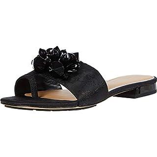 Donald J Pliner womens Flat Sandal, Black, 8 US