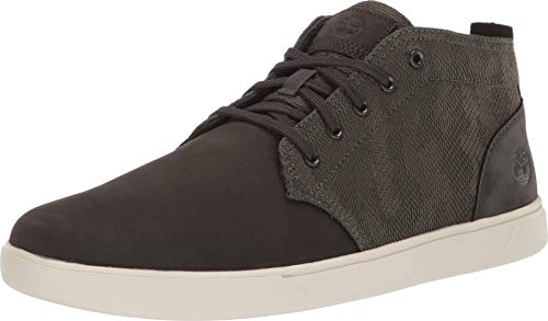 - Timberland Men's Groveton Leather and Fabric Chukka Dark Green Nubuck Camo 10.5 D US