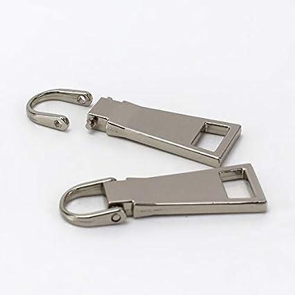 Color: White, Size: 3cm 3cm white zipper slider DIY clothing accessoriesTailor Sewing Tools Garment Accessories Detachable378 Maslin 10pcs//lot 42