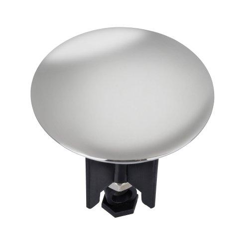 WENKO 21023100 Waschbeckenstöpsel Pluggy® XL Chrom - Abfluss-Stopfen, für alle handelsüblichen Abflüsse, Kunststoff, 6.2 x 6.6 x 6.2 cm, Mehrfarbig