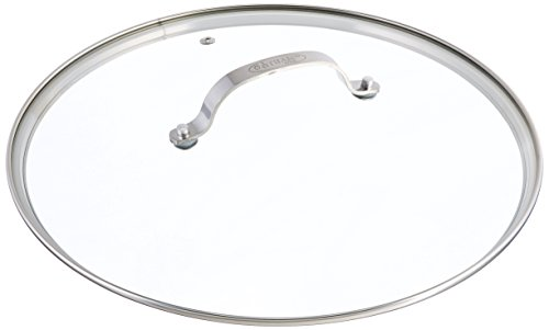 - Gotham Steel Clear Tempered Glass Vented Lid - Prevents Pots and Pans from Messy Spillovers (12.5-inch Lid)