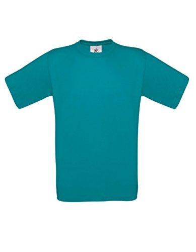 T-Shirt Exact 190 Basics Rundhals Shirt viele Farben B&C S-XXL XL,divablue