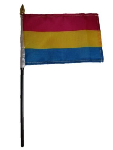 Wholesale Lot of 12 Gay Pride Pansexual Rainbow 4''x6'' Desk Table Flag BEST Garden Outdor Decor polyester material FLAG PREMIUM Vivid Color and UV Fade Resistant by Moon