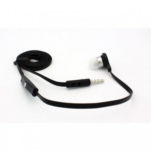 Flat Cable Black Handsfree Mono Headset Single in-ear Earphone Earbud Microphone for Verizon Samsung Galaxy Samsung Stratosphere / Stratosphere II SCH-I415, Verizon Samsung Continuum i400, Verizon Samsung Illusion, Samsung Rogue U960 ()