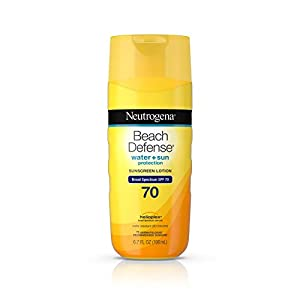Neutrogena Beach Defense Water Resistant Sunscreen Body Lotion with Broad Spectrum SPF 70, Oil-Free and Fast-Absorbing…