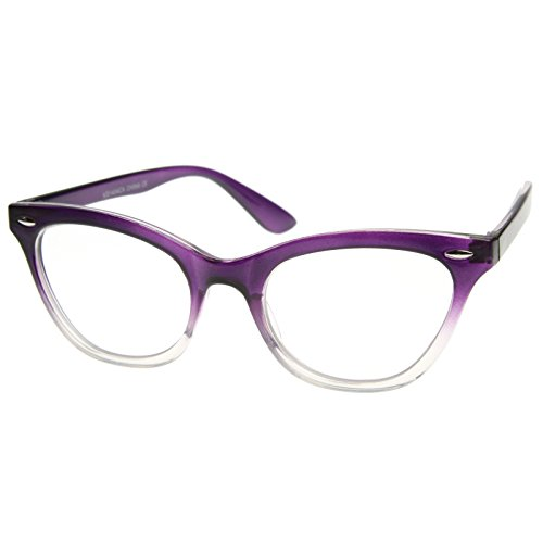d259a35f46 AStyles - Vintage Inspired Gradient Half Tinted Frame Clear - Import It All