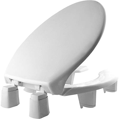 Bemis Independence 7YE82350TC 000 Open-Front Elevated/Raised Toilet Seat with 3