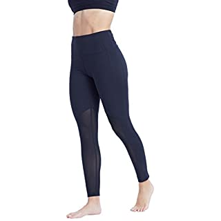 Marika Women's Olivia Vented High Rise Tummy Control Legging, Black, Large