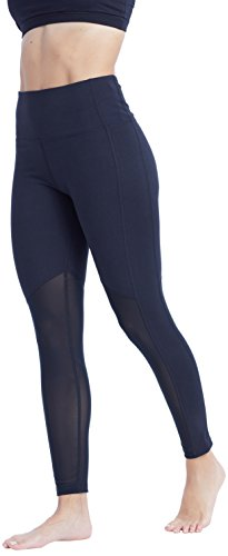 Marika Women's Olivia Vented High Rise Tummy Control Legging, Black, Large