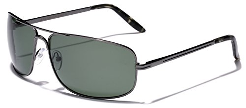 778ad24acd Amazon.com  L XL Wide Frame Men s Polarized Fishing Golf Aviator Style  Sunglasses  Clothing