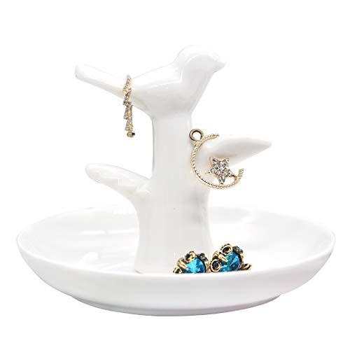 PUDDING CABIN Bird Ring Dish for Engagement Ring, Bird Jewelry Holder, Ceramic Ring Dish, Bird Lover Gift (Of Birds Lover)