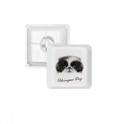 Black and white Cute Pekingese Dog Pet Animal PBT Keycaps for Mechanical Keyboard White OEM No Marking Print