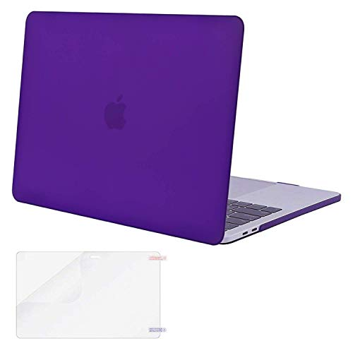 MOSISO MacBook Pro 13 inch Case 2019 2018 2017 2016 Release A2159 A1989 A1706 A1708, Plastic Hard Case&Screen Protector Compatible with MacBook Pro 13 inch with/Without Touch Bar, Ultra Violet