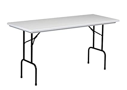 Correll RS3072 R Series, 36u0026quot; Standing Height Blow Molded Plastic  Commercial Duty Folding Table