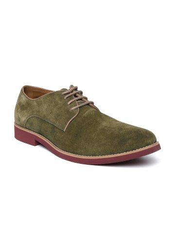 Buy Carlton London Men Olive Green
