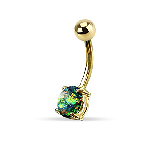 Buy opal belly button ring set