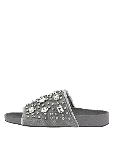 LOUVEL Slides Women's Grey Slides Women's Women's LOUVEL LOUVEL Grey BZEqF4x