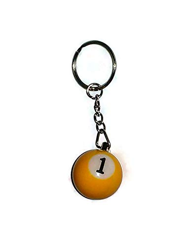 (One Ball Keychain Billiards Billiard Pool # 1)