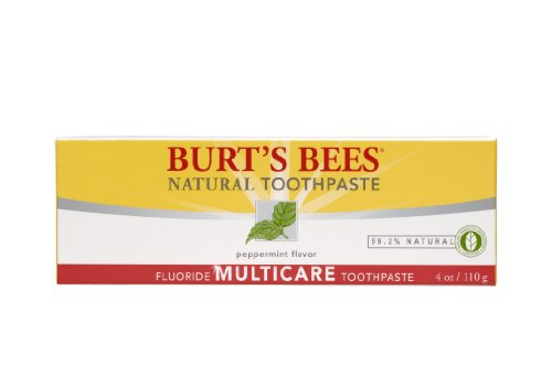 Burt's Bees Natural Toothpaste - Multicare with Fluoride, 4 Ounces (Pack of 4) by Burt's Bees