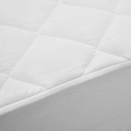 Protège-matelas matelassé blanc 180x200 cm léger