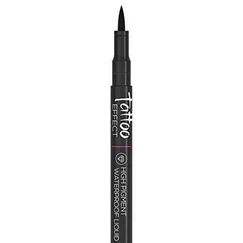 Best Waterproof Liquid Gel Eyeliner Pen - Black Eyeliner - Winged Eyeliner Tip - High Pigment & Long Lasting - Run Proof - Goes on with Ease