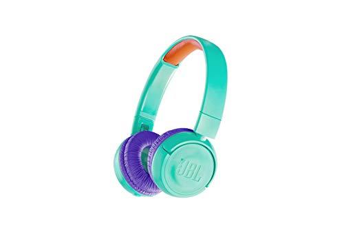 JBL JR300BT Kinder-Kopfhörer in Türkis – Kabellose Bluetooth On-Ear Kopfhörer mit Lautstärkebegrenzung – Speziell…