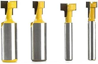 2Pcs 1//4/'/' Shank Keyhole T-Slot Woodworking Cutter Router Bit 3//8/'/' 1//2/'/'