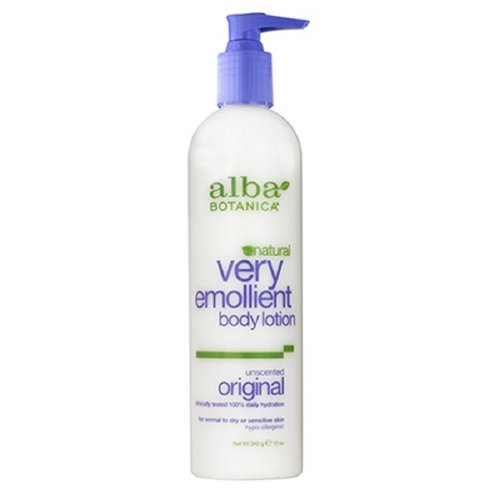 Emollient Body Lotion Moisturizing Alba Very Botanica Lotion (Alba Botanica Very Emollient, Unscented Body Lotion 12 oz (Pack of 2))