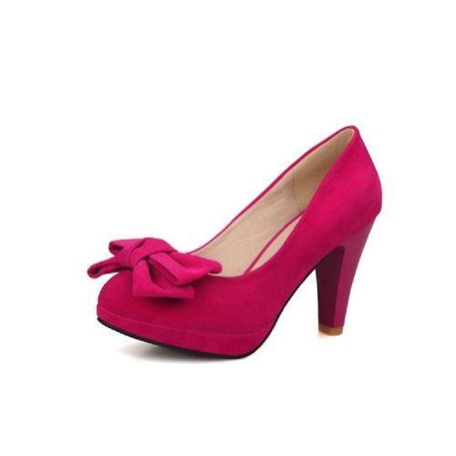Charm Piede Moda Archi Scarpe Da Donna Scarpe Col Tacco Alto Scarpe Rosa Rosso