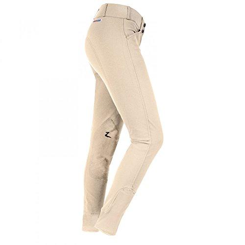 Horze Grand Prix Extended Patch Breeches - Ladies Knee Patch - Size:EU 30R Color: KHAHKI LIGHT BROWN