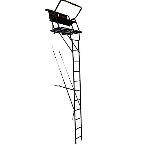 BIG GAME LS4950 Spector XT Tree Stand, 17' Two Person Ladder Stand, Flip-Up Flex-Tek Seat, Padded Shooting Rail
