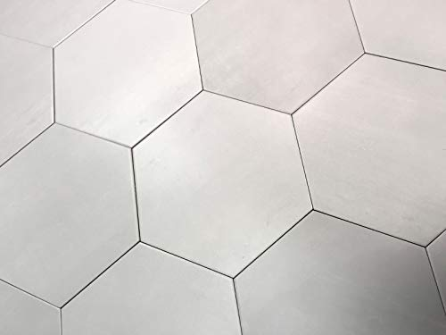 10.2 x11.4 Mama Mia Hexagon Argento Soft Gray Porcelain Floor Tile (Box of 9)