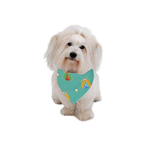 - AIKENING Dog Scarf Brooch Retro Noble Temperament Girl Printing Dog Bandana Triangle Kerchief Bibs Accessories for Large Boy Girl Dogs Cats Pets Birthday Party Gift